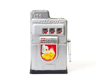 Vintage Tin Toy Slot Machine