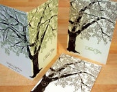 Reserved for Cheryl Kamen, Oak Tree Thank You Cards, Bar Mitzvah Thank Yous