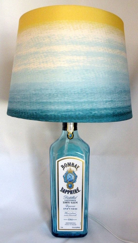 Bombay Sapphire London Dry Gin Recycled Bottle Lamp By Becadesigns