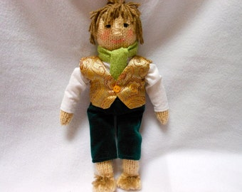Hand Knitted Doll, Hobbit Inspired, Fantasy, Movie, Little Person, Shire, Book, Film, Magical, LOTR, OOAK, Bilbo