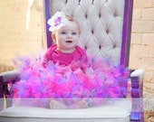 Pink and Purple pettiskirt tutu Custom made to your size EXTRA FULL 12 mo 2t 3t 4t 5t 6x