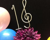 Sweet 16 musical cake topper   Sixteen birthday decoration Treble Clef Music Note for sixteenth celebration