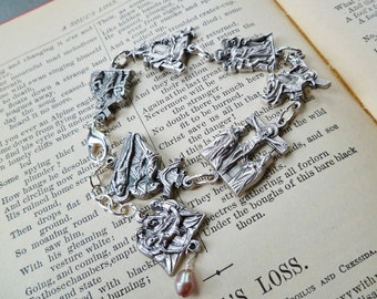 Easter Jewelry Stations of the Cross Bracelet II Christian Silver