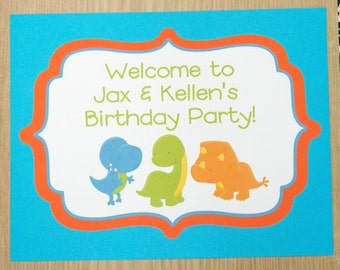 Party Sign - Personalized Dinosaur Party Decor by The Birthday House