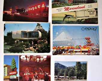 1960s Postcard Lot of 14 Monsanto House of Future Expo 67 Disneyland and More 60s