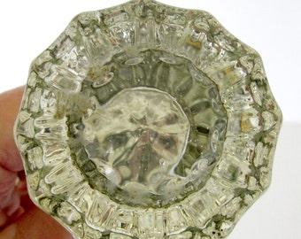 Antique Glass Door Knob Vintage 1930s Crystal Door Knobs