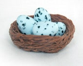 Birds Eggs in a Nest Soap / Speckled Birds Eggs in a Nest Soap / Robin Eggs in a Nest