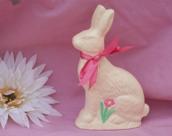 Ceramic White Chocolate Easter Bunny Rabbit Fake Food Looks Real