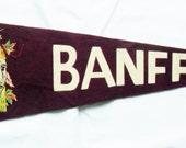 Vintage Canadian felt pennant BANFF circa 1950s