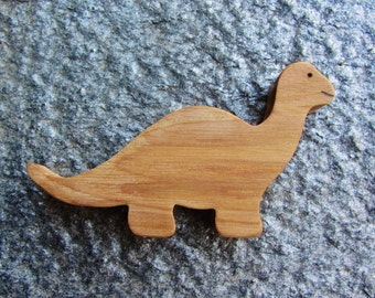 Wooden Dinosaur Teether Natural Waldorf Teething Toy