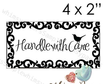 Handle With Care Stickers - set of 50