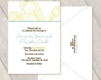 Feather Custom Invitations, Wedding, Party, Birthday, Anniversary, Retirement Digital File