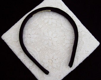 Tiny Velvet Headband Black