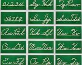 Vintage School Cursive Lettering Board Complete Set