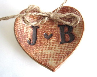 Alternative  Wedding Ring  pillow, rustic wedding ring dish, unique engagement gifts  initial ring holder handmade ceramic