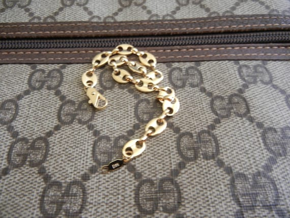 Vintage Gold Plated Gucci Style Link Bracelet By