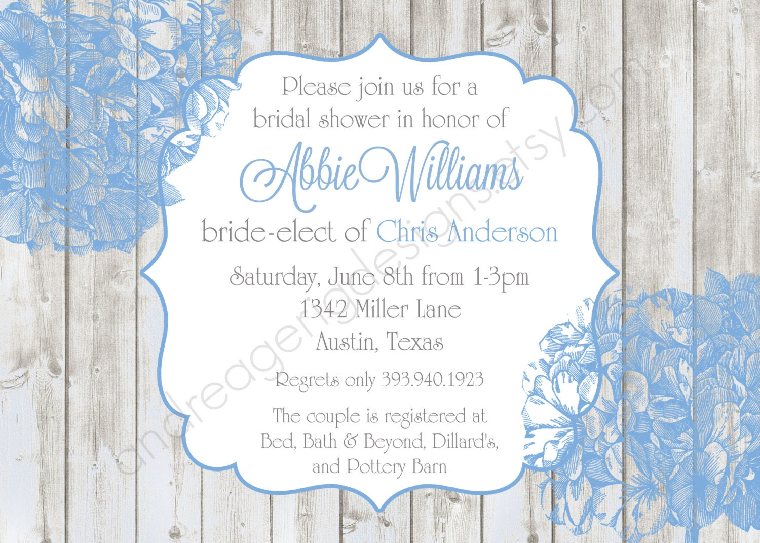 Bridal Shower Invitations Templates Microsoft Word Bridal shower ...