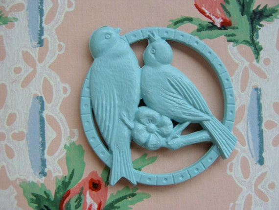 Vintage Shabby Chic Chippers 2 sided Medallion