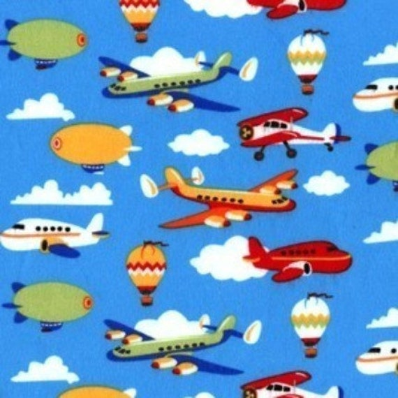 Sale fly by day airplane fabric by michael by snugglesoflove for Airplane fabric by the yard