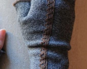 Fingerless Mittens/ 100%wool