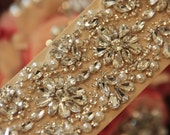 "22"" Rhinestone Crystal Bridal Sash, Wedding Sash Belt, Bridal Accessories, Crystal Belt Sash, Bridal Sash Belt"