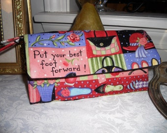 Wallet / Wristlet / Cell Phone / CheckBook / Party Girl Fabric
