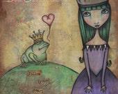 The Frog Princess - 8x8 Signed Print