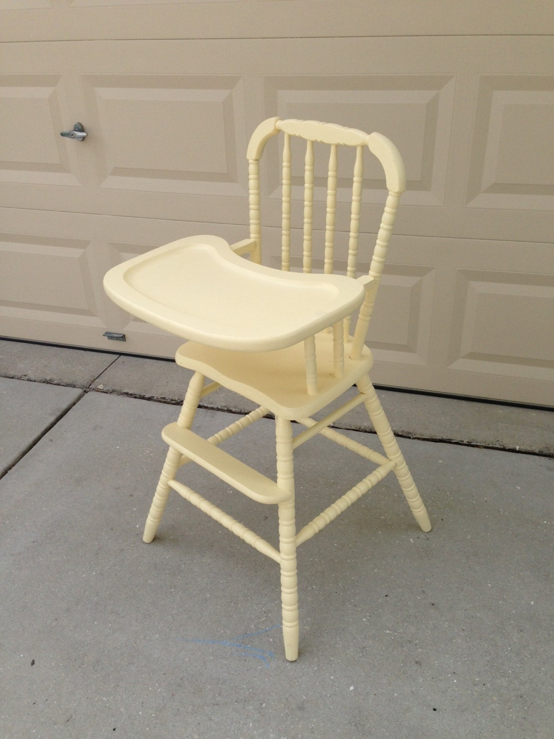 Items similar to Vintage Wooden High Chair on Etsy