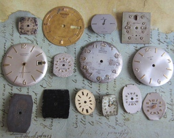 Vintage Antique Watch  Assortment Faces - Steampunk - Scrapbooking K38