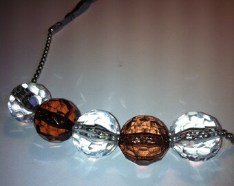 Suede meets ball chain necklace