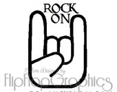 Rock On Vinyl Graphic, Vehicle Window Sticker