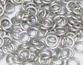 """Jump Rings 18g 5/32"""" Silver Frost"""