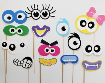 Monster Photo Booth Props. Monster Birthday Photobooth Props.