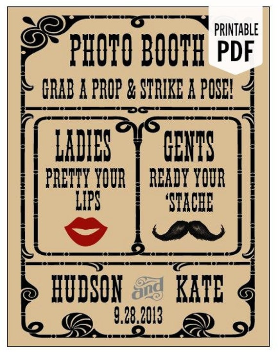 DIY. Custom PRINTABLE PDF. Photo Booth Sign. Photo Booth Prop. Photobooth Prop. Photo Booth.Chalkboard Sign, Wedding Reception. Chalk