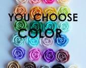 "7/16"" (11mm) Rose Flower Plugs- You Choose Color"