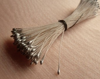 Silver Stamens made in Germany for Bridal Headpieces, Fascinators, Bouquets, Corsages