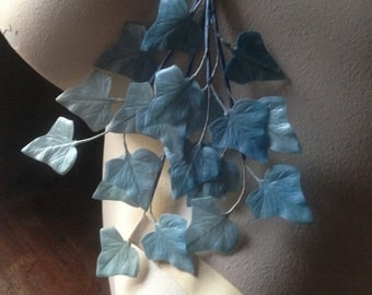 Blue Leaves Vintage German for Bridal, Headpieces, Headbands, Boutonnieres, Bouquets, Millinery ML 110