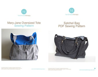 PDF Sewing Pattern Bundle - The Mary-Jane Tote AND The Satchel Bag