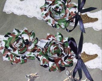 Sale Rustic Garter,Plus Size Garter,Garter,Rustic Wedding,Camo Garter Set,Camo Wedding,,Sneaker Garter Set
