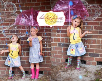 Rain Paper Garland - April Showers, Baby Showers, party decorations