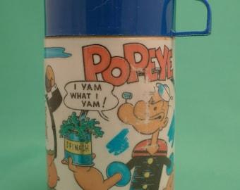1980 Popeye Plastic Thermos