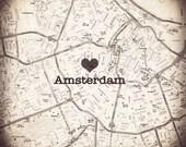 Custom Order for Jennifer - I Heart Amsterdam 11 by 11 Fine Art Print