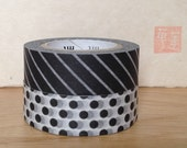 new S/S 2013 mt washi masking tape -stripes and dots -- black and white-