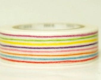 mt washi masking tape - pencil lines - single piece