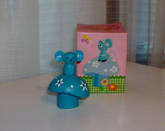 1981 Heralds of Spring Mouse Pomander by Avon (Code d)