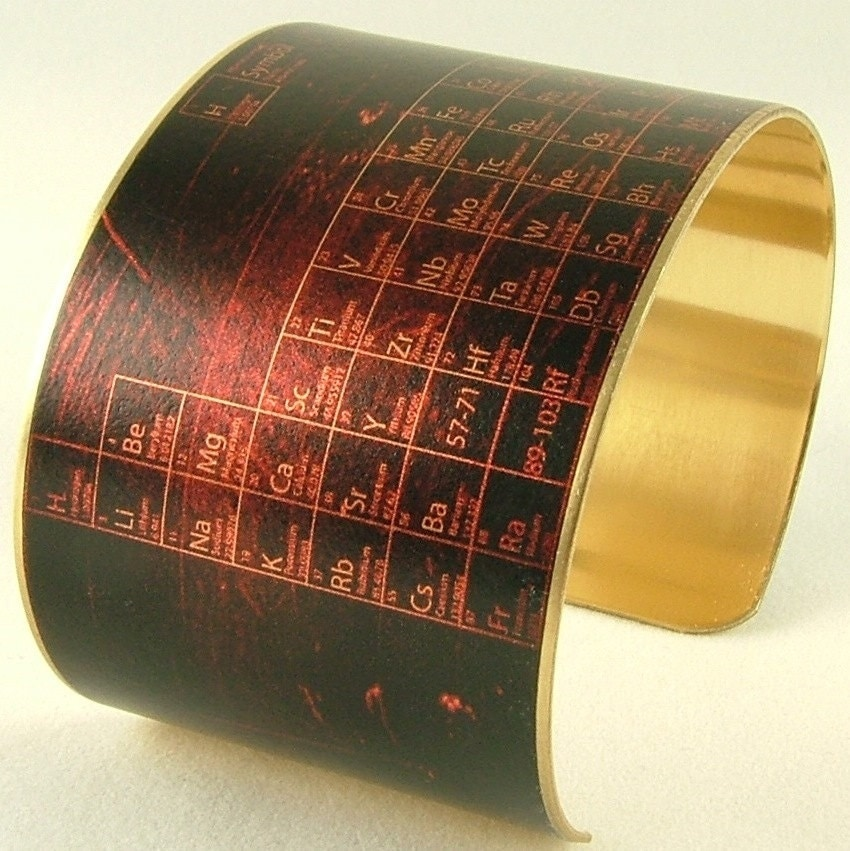 Brass cuff bracelet periodic table of elements pharmacist brass cuff bracelet periodic table of elements pharmacist jewelry steampunk buy now online urtaz Images
