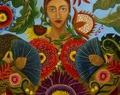 Portrait painting-Gaia-Fine Art Print 8x10