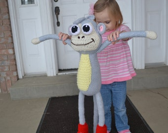 Boots - PDF Amigurumi monkey crochet pattern