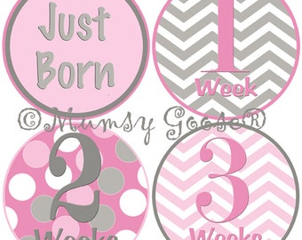 Baby Girl Bodysuit Stickers Baby Months Stickers Boy Age Stickers First Weeks Baby stickers Waterproof  Great Newborn Photo Prop