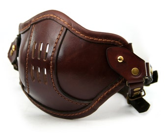 STEAMPUNK LEATHER Mask brown leather SMPL/a Raider design